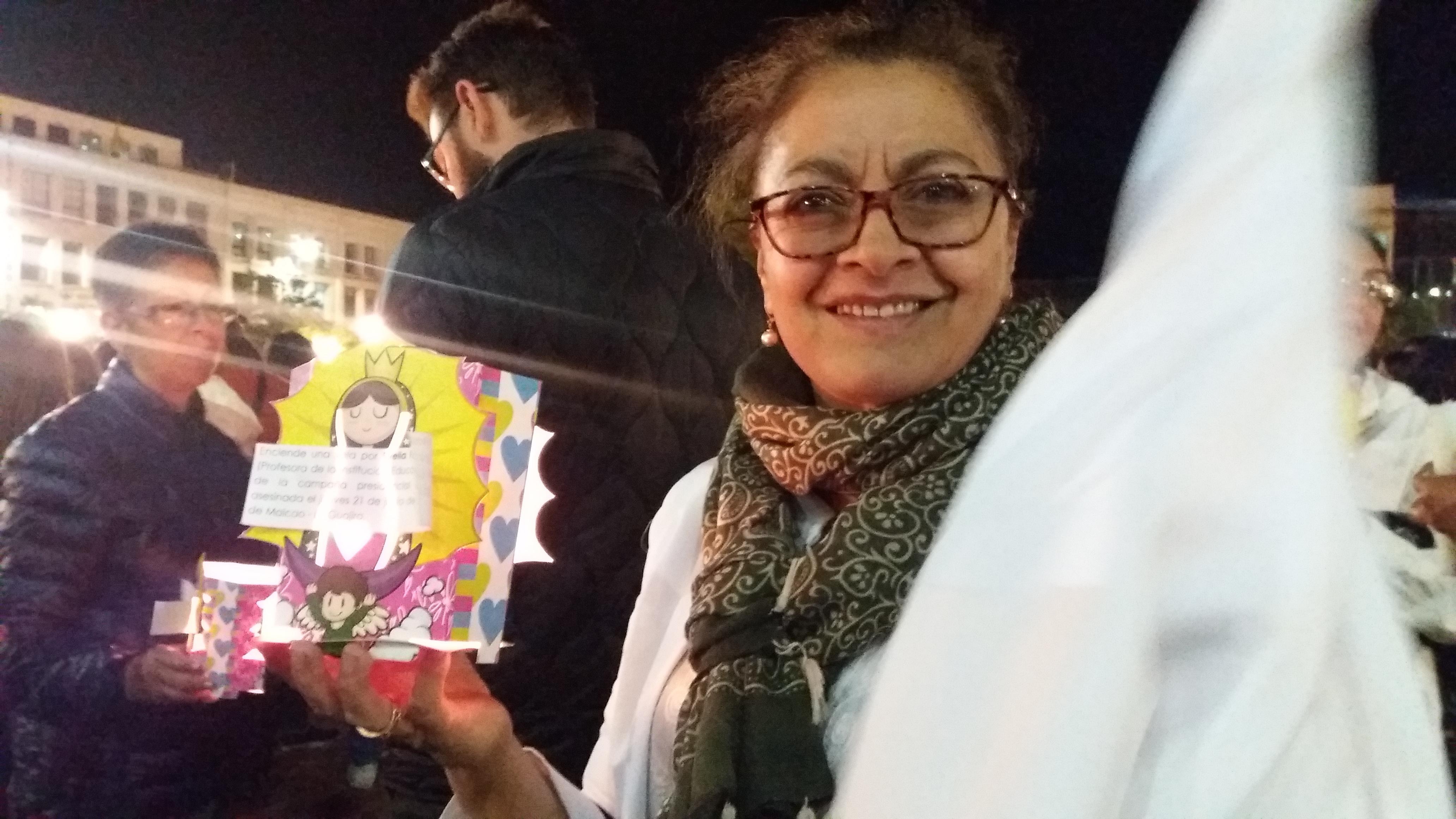 """CONCEJALES LUCÍA DEL SOCORRO BASANTE DE OLIVA Y ALEXANDER RASSA, PARTICIPARON EN LA VELATÓN """"¡ENCIENDE UNA LLAMA POR LA VIDA!"""""""